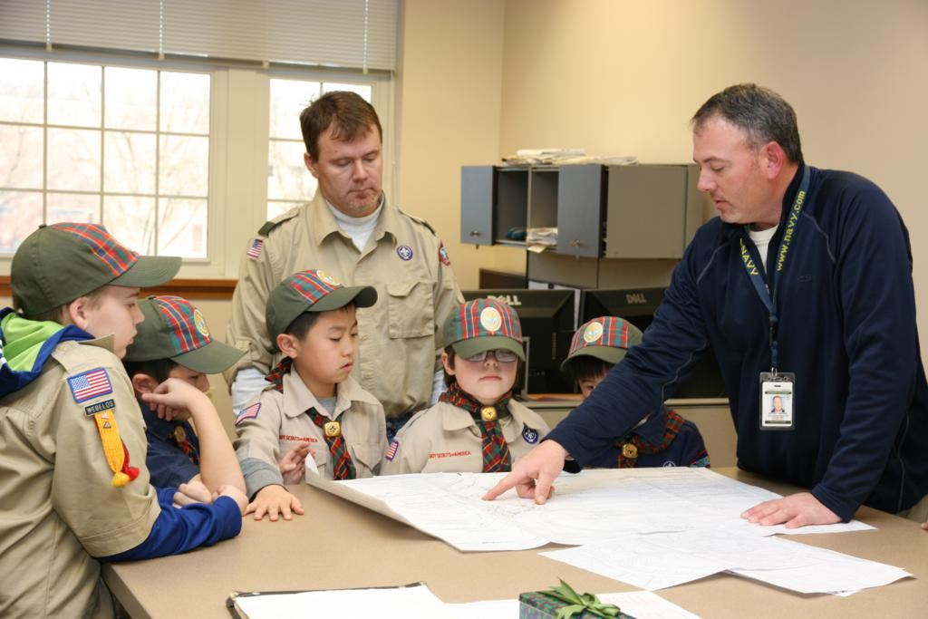 Boy Scouts Learning About Surveying