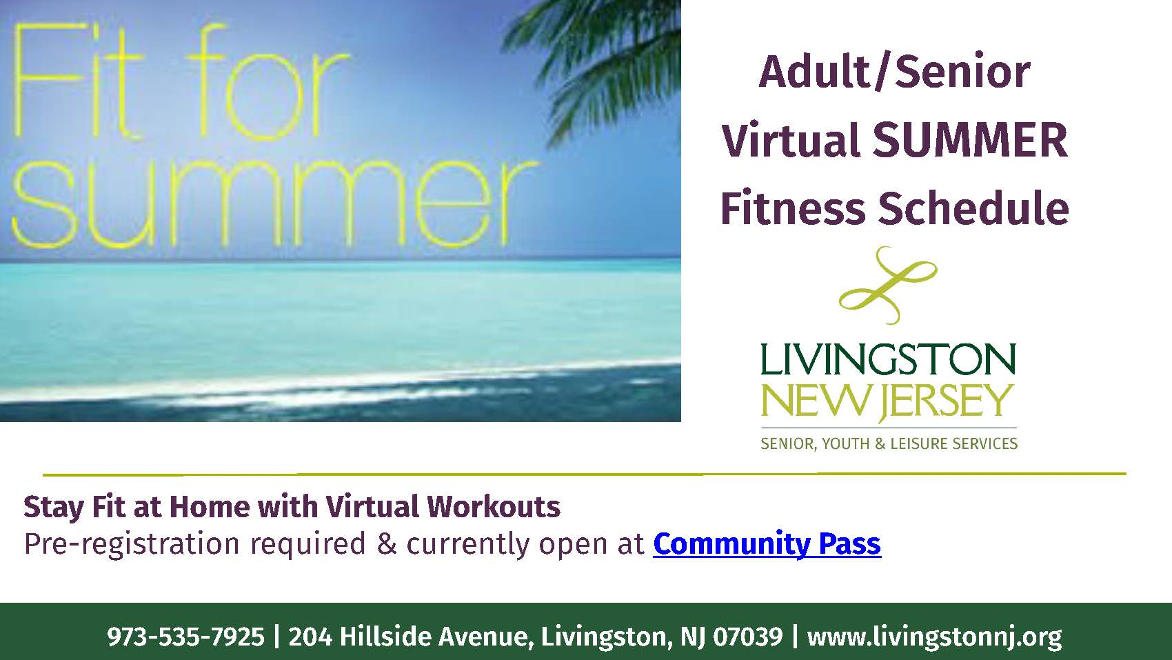 Virtual fitness Banner summer