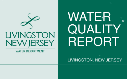 Livingston, NJ logo - Water Department. Water Quality Report: Livingston, New Jersey. Background hal