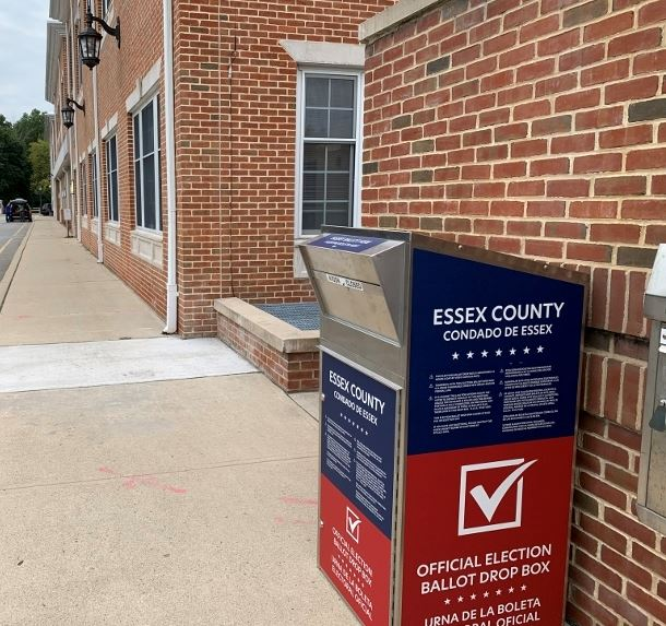 Essex County Secure Ballot Drop Box outside Livingston Town Hall