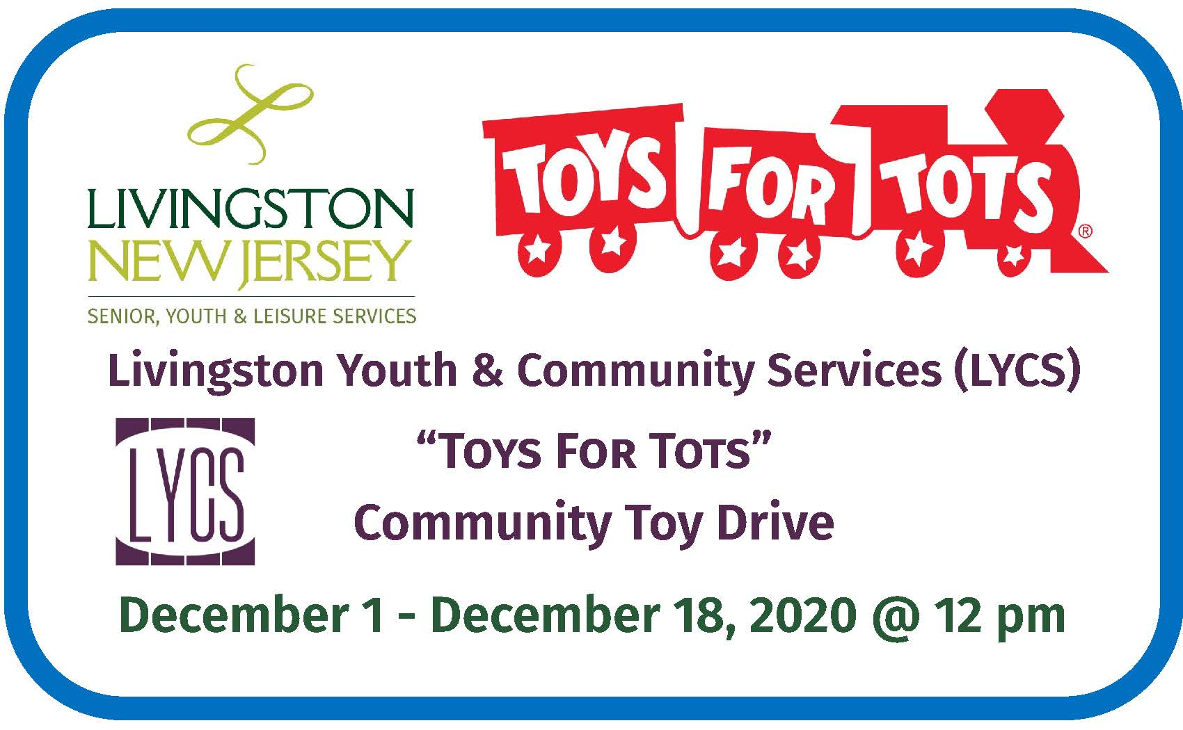 Toys for tots banner 2020