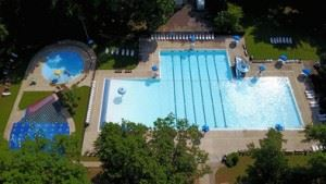 Northland Pool - overhead view