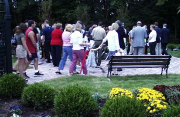 Crowd Walking Gardens