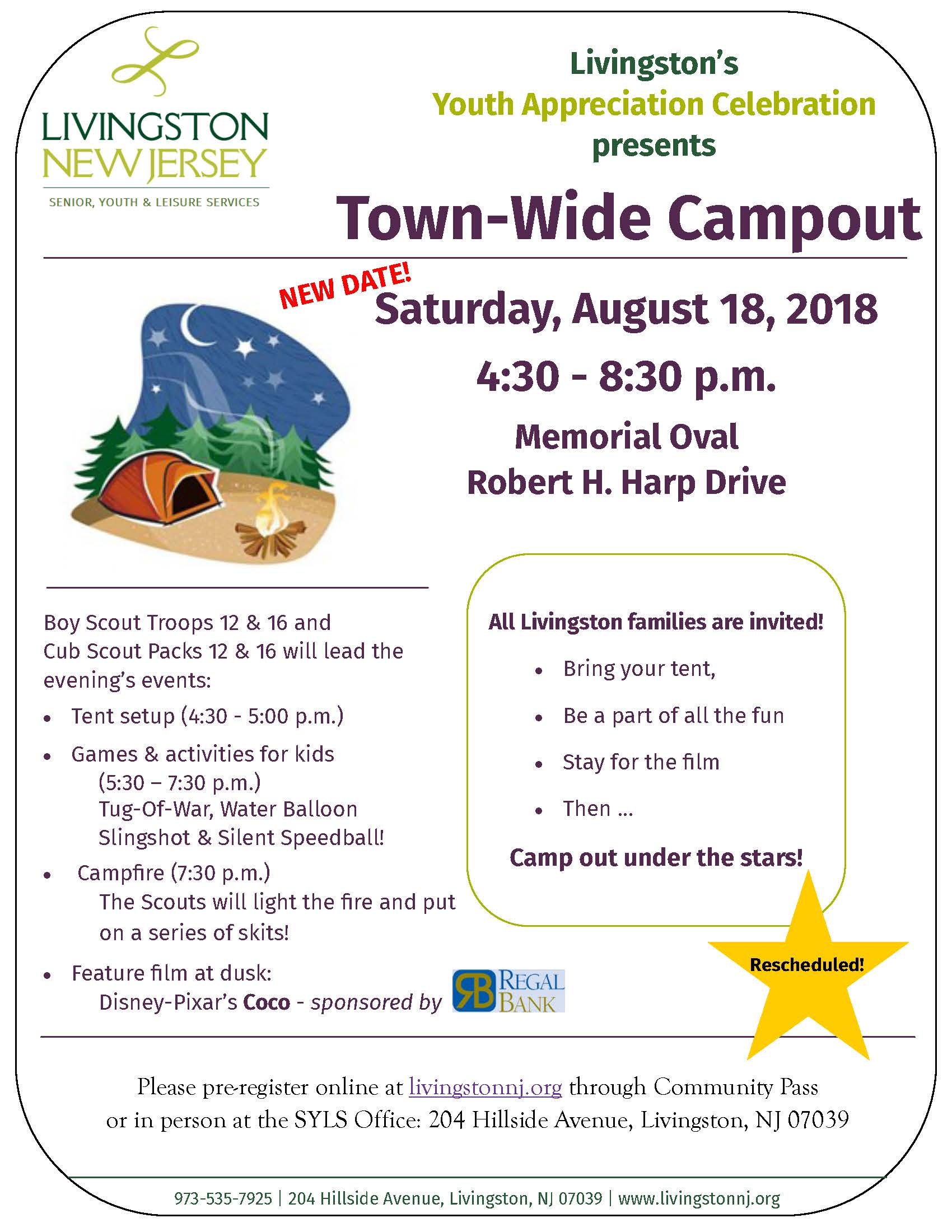 2018 Town-wide Campout