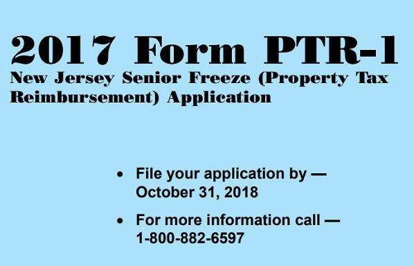 Deadline for 2017 Senior Freeze Application is October 31, 2018