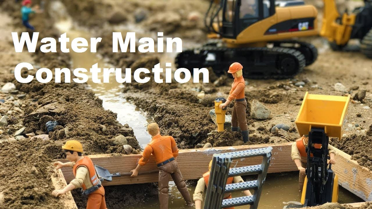 Water Main Construction Banner