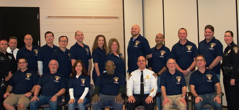 Group photo of the first graduating class of the LPD&#39s Citizen Police Academy with members of the