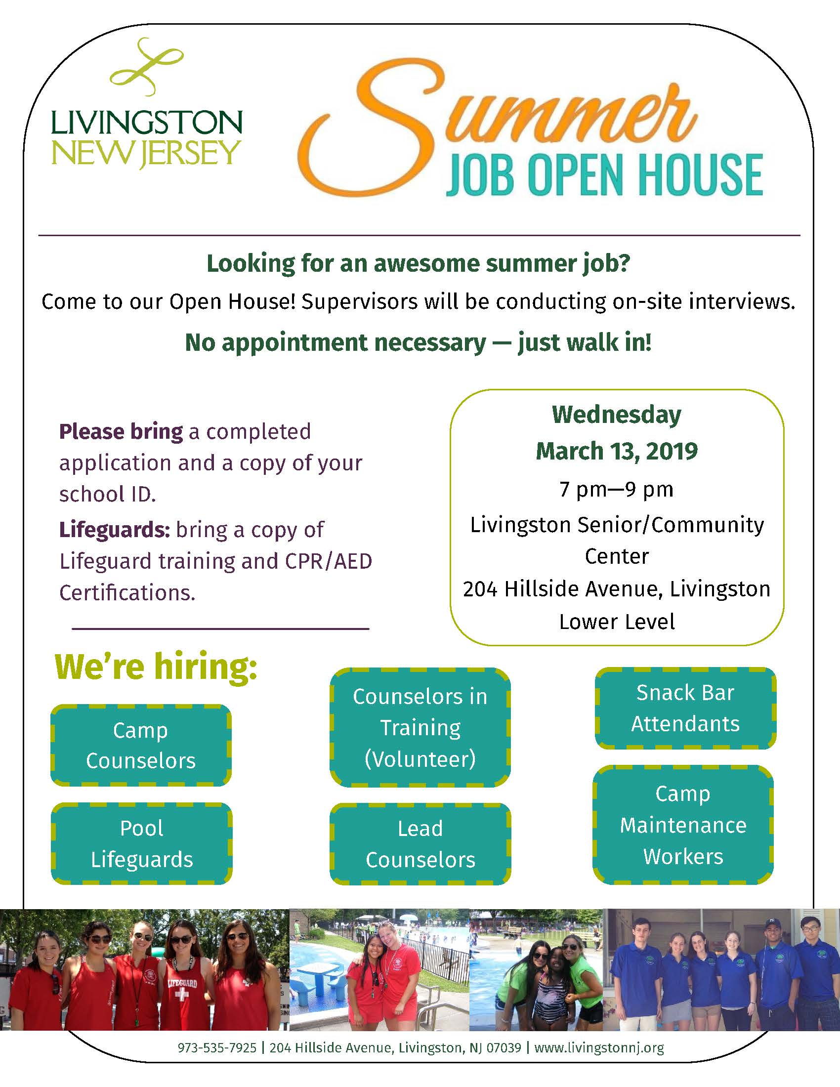 Summer Job open house March