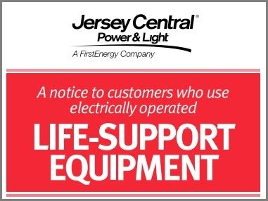 JCP&L: A notice to customers who use electrically operated life-support equipment
