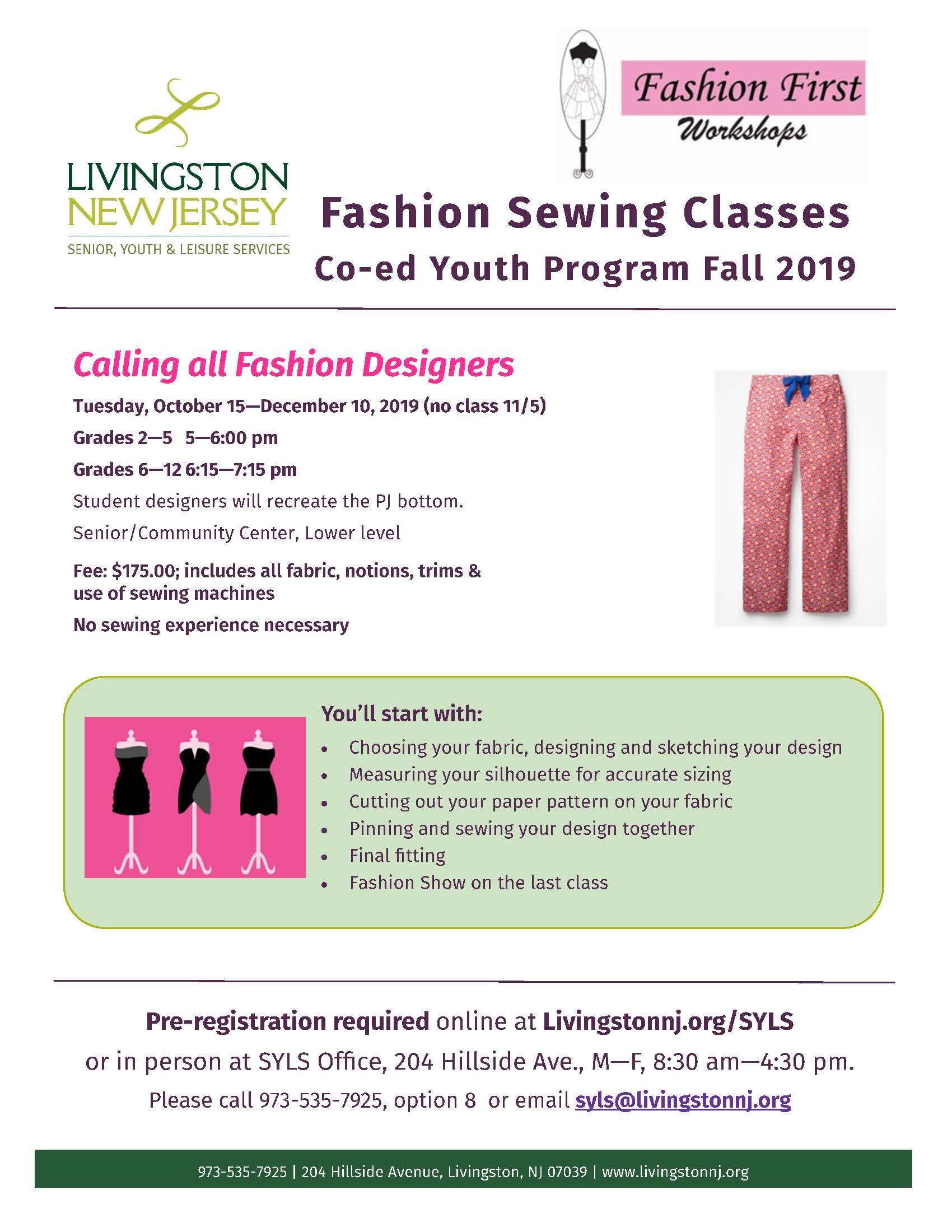 Sewing Class Fall 2019