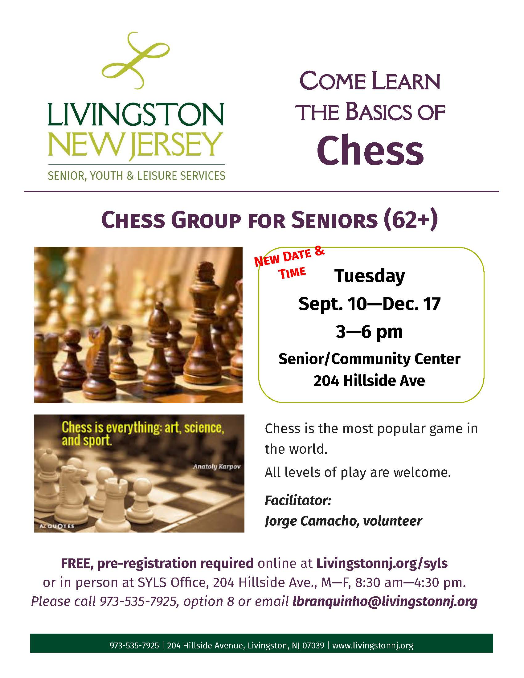 Chess Flyer Fall 2019
