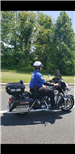 Officer Jose Antunes riding a motorcycle