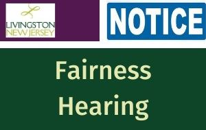 Notice of Fairness Hearing announcement