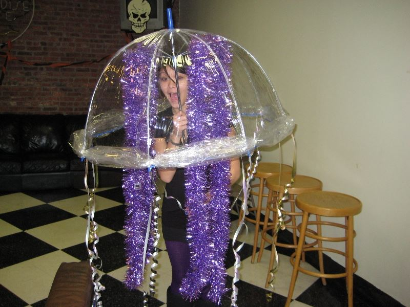 Kid in a Jellyfish Costume