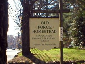 Old Force Homestead Sign