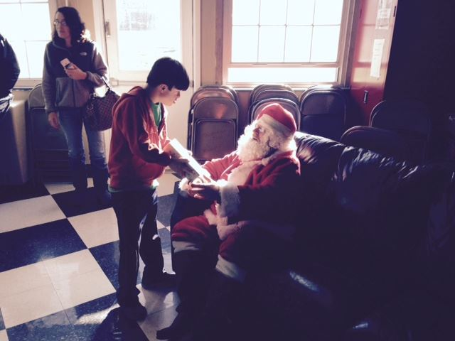 Santa Talking to a Child