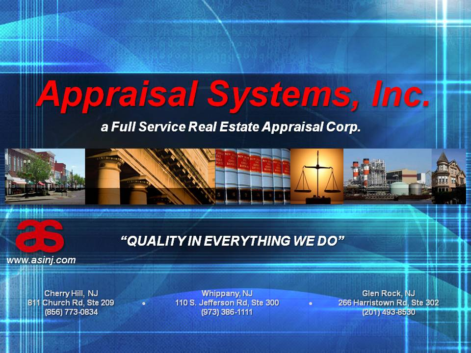 Appraisal Systems, Inc. poster from asinj.com -- &#34A Full Service Real Estate Appraisal Corp. Qual