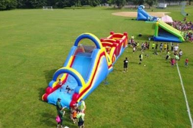 Inflatable play area
