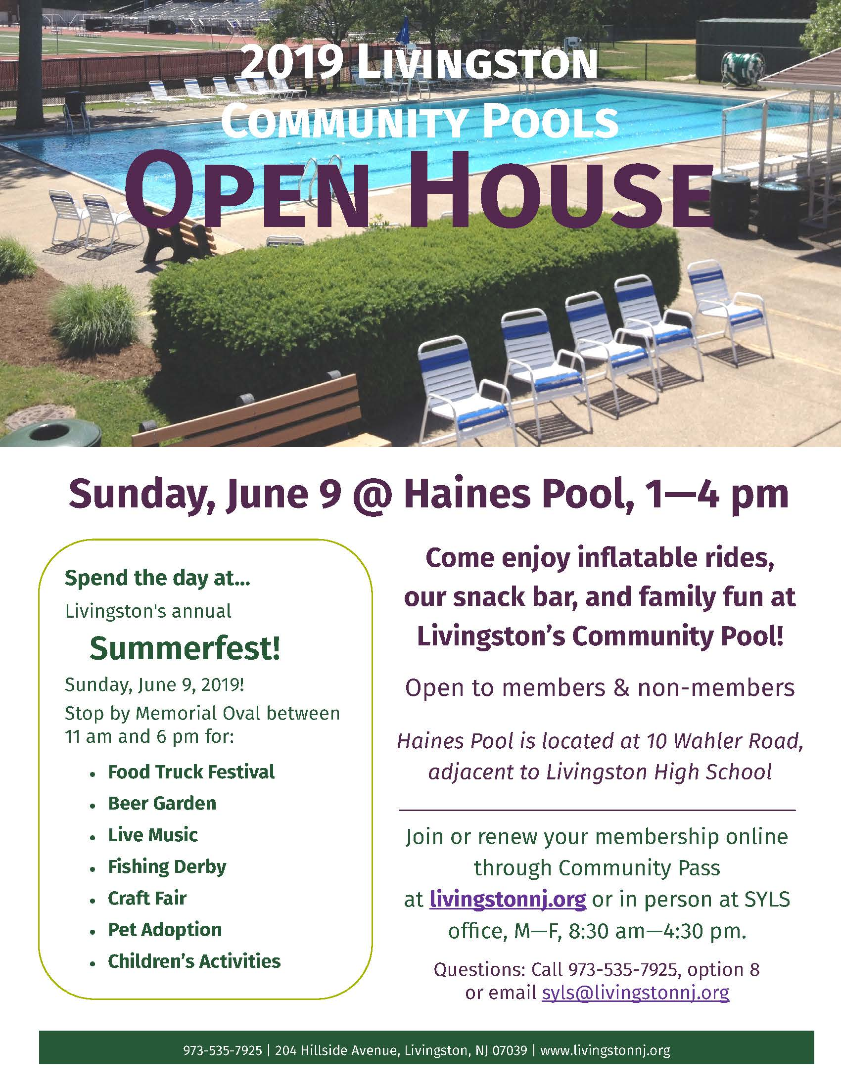 2019 Pool Open House updated