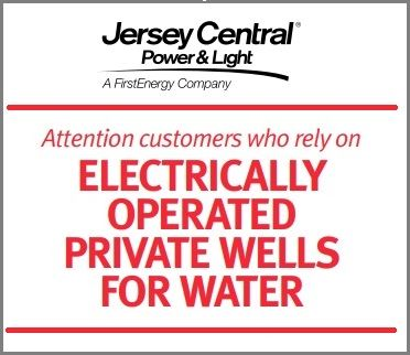 JCP&L: Attention customers who rely on electrically operated private wells for water
