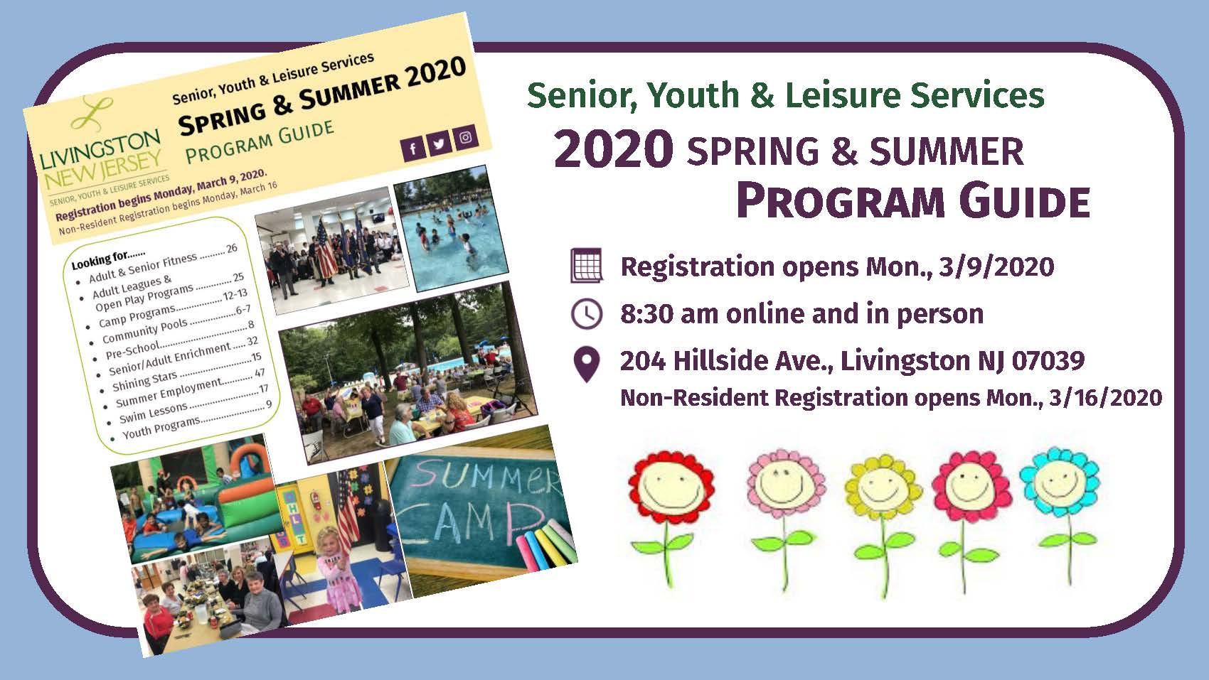 Spring Summer 2020 program guide Banner