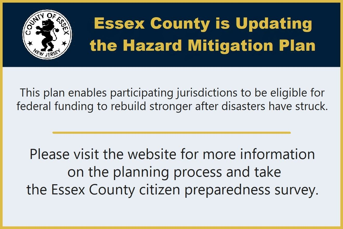 Essex County Hazard Mitigation Plan update reminder in English
